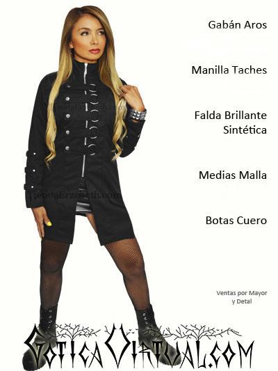 gaban abrigo rockero metalero gotico gothic tienda colombia online bogota  cali medellin manizales pereira yopal envigado 7d3ddbe3723