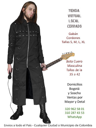 gaban cordones tienda online rock metal masculino metalero bogota medellin cali tunja cesar valle meta colombia
