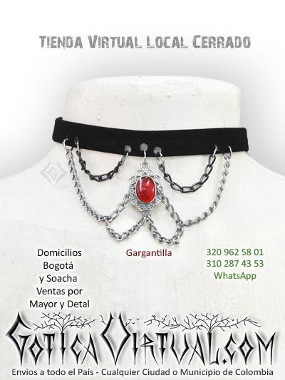 gargantilla cadenas dije gotico collar accesorios tienda online bogota casanare cauca chia pasto meta bolivar tunja colombia