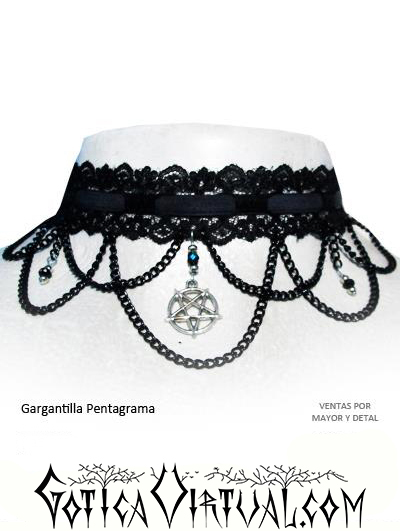 46146f0cec5c Gargantillas Bogota pentagrama tienda erzebeth collares estrella de cinco  puntas medellin cali tunja envios ventas por