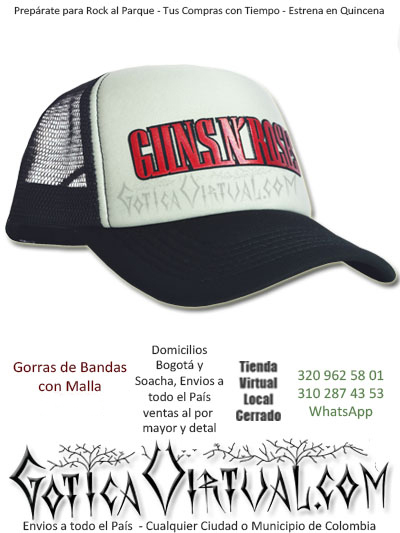 gorra cachucha gunsnroses accesorios economica venta online envios pasto zipaquira valle meta tunja cauca monteria colombia