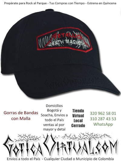 4acf95f62db15 gorra metallica cachucha bandas economica venta online envios bogota  zipaquira neiva medellin cucuta colombia