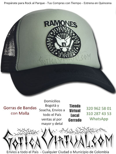 gorra cachucha ramones accesorios economica venta online envios pasto zipaquira valle meta tunja cauca monteria colombia