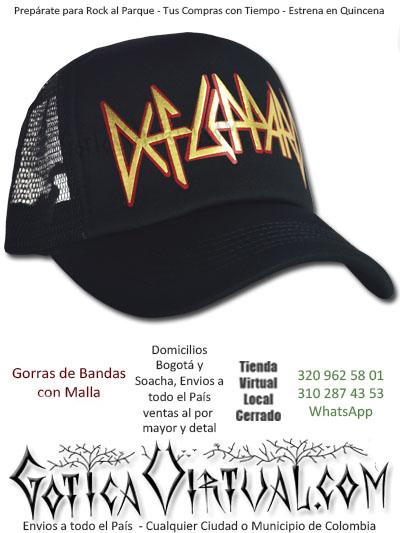 gorra cachucha def leppard accesorios economica venta online envios pasto zipaquira valle meta tunja cauca monteria colombia