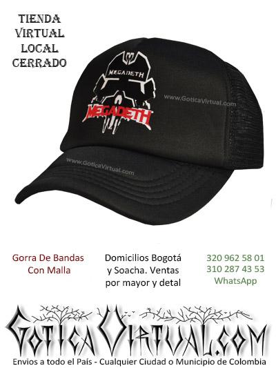 gorra megadeth cachucha bandas economica venta online envios bogota zipaquira neiva medellin cucuta colombia