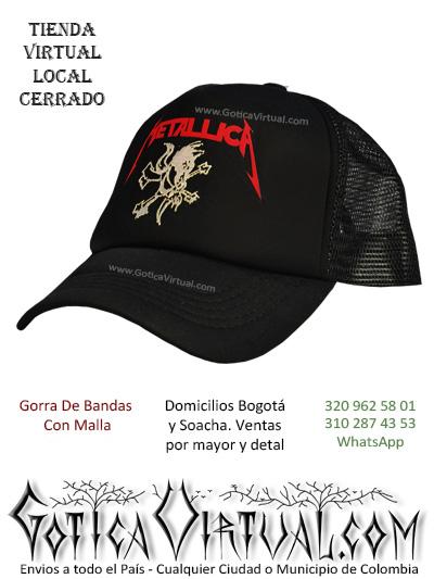 gorra metallica cachucha bandas economica venta online envios bogota zipaquira neiva medellin cucuta colombia