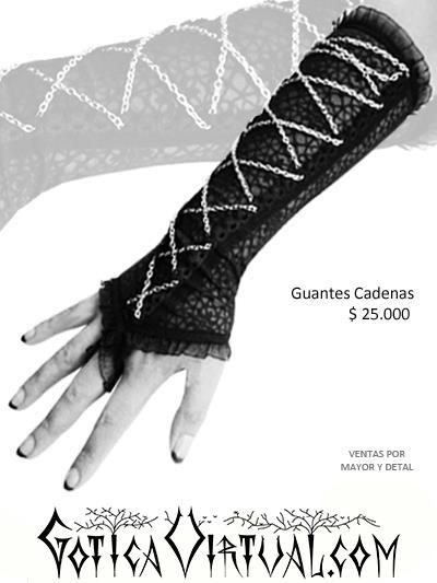 Guantes Bogota Cadenas cruzadas goticos disfraces brujas hadas princesa halloween cali manizales pereira medellin
