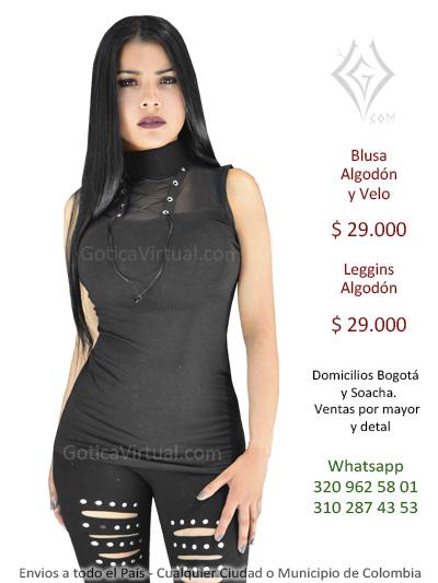 515abcd96a0c Blusas Bogota Goticas Metaleras Rockeras Brillantes Blonda Manga ...