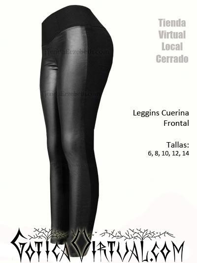 Leggins cuerina frontal Bogota drill atras licrado combinado medellin ropa cali femenina ventas por mayor y detal