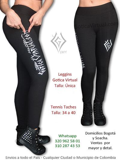 leggins chica marca gotica virtual tienda online rock metal envios domicilios bogota suba bosa usaquen castilla colombia