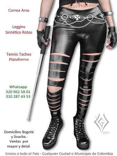 leggins sintetico rotos metalero rockero economico bonito tienda online cali pereira tunja boyaca zipaquira colombia