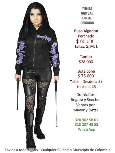 buso bordado bandas deep purple chica femenino tienda online rock metal bogota manizales armenia quindio santander cundinamarca bolivar colombia
