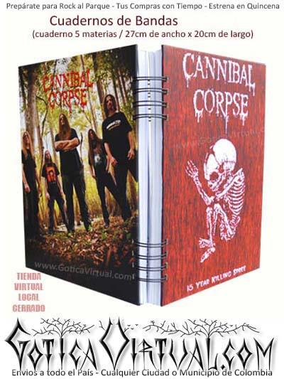 libro agenda escolar materias cuaderno banda cannibal envios colombia bogota cali medellin pereira pasto
