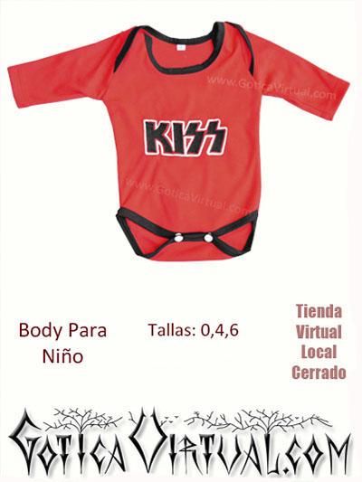Body bebe nenes rockeros banda kiss rojo con negro algodon mameluco envios bogota colombia pasto medellin cali cucuta santander