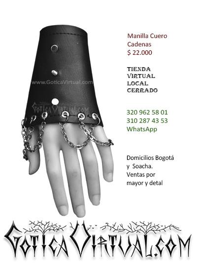 manilla cuero cadenas venta online gotica metalera domicilios bogota soacha envios colombia