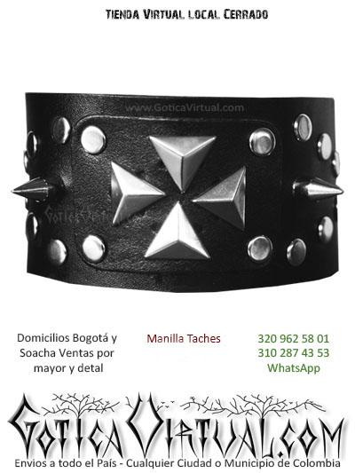manilla cuero taches venta online gotica metalera domicilios bogota soacha envios colombia