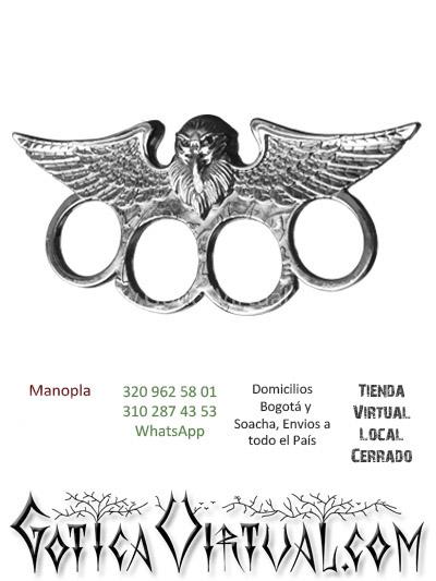 manopla acero metal mano figura envios online bodega medellin manizales cucuta tolima popayan colombia