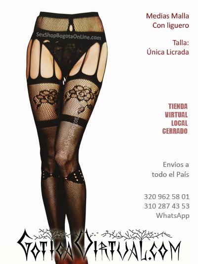 medias liguero negra diseno malla mujer sexy bogota bonitas hermosas ventas online sex shop cali medellin tulua