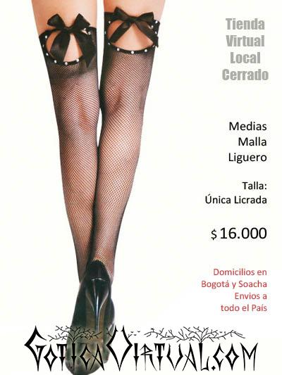 medias malla liguero lenceria ropa interior corta dama tienda femenina sex shop bogota internet colombia