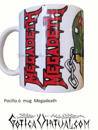 megadeth thrash accesorios cali tienda pocillo articulos heavy mug rock metal venta gotico metaleros bogota medellin manizales death black thrash mug