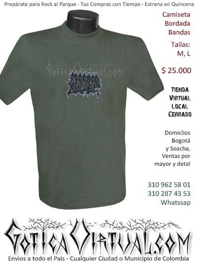 camiseta morbid angel hombre bordada venta online domicilios bogota y soacha envios colombia