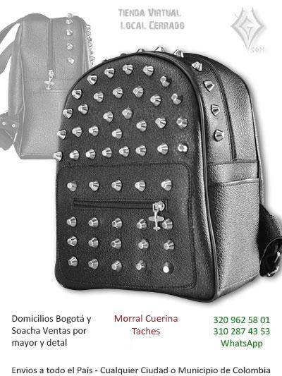 89de544e9 maleta cuerina taches negra economica venta online chica rockera metalera  bogota cali santander pereira tunja colombia