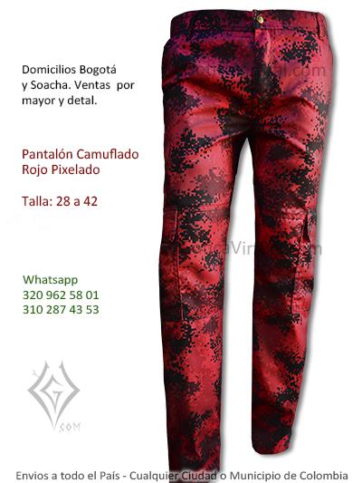camuflado rojo pixelado venta online rock metal hombre economico reforzado cali cesar tunja valledupar huila colombia