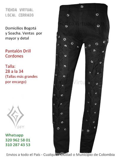 pantalon drill aros negro economico venta online domicilios pereora tunja armenia sincelejo cali colombia