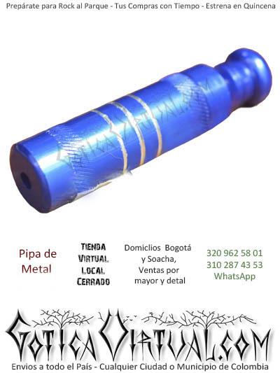 pipa de metal azul fumar venta online domicilio bogota y soacha envios toda colombia