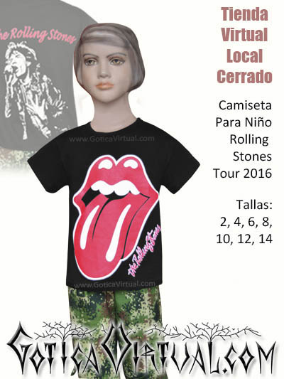 camiseta nino rollings stones tienda online rock metal ropa accesorios metaleros nino venta online bogota colombia