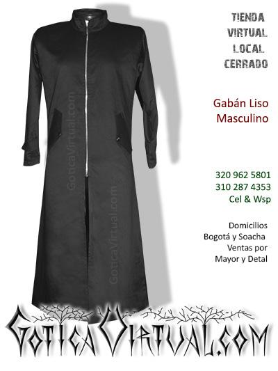 gaban liso maculino tienda online rock metal bogota largo negro envios cali medellin cucuta colombia