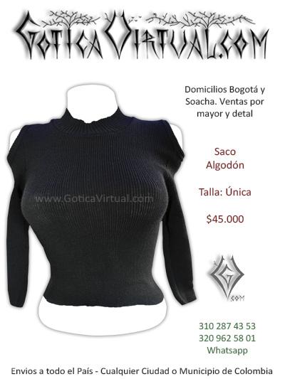 buso algodon negro corto chica rock metal bogota tienda online valle medellin cauca sincelejo pereira manizales colombia