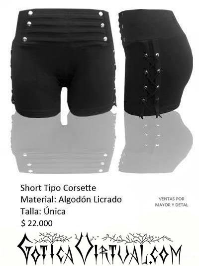 short pantaloneta corto bogota prenda algodon dama ropa metalera sport rockera cordon medellin cali armenia manizales