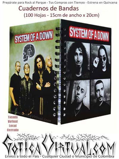 system of a down banda agenda escolar cuaderno envio medellin cali santander cucuta pasto manizales popayan bogota