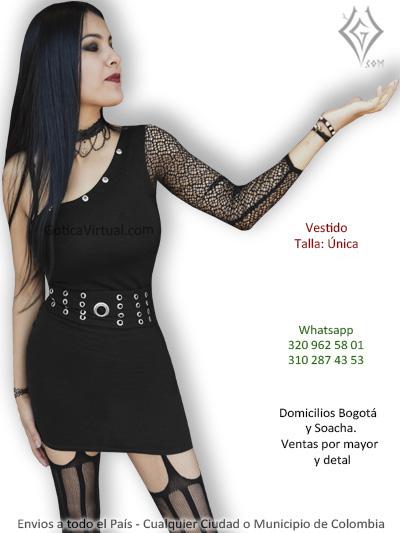vestido algodon malla negro ojales domicilios bogota choco santa marta fusagasugacalarca cesar valle colombia