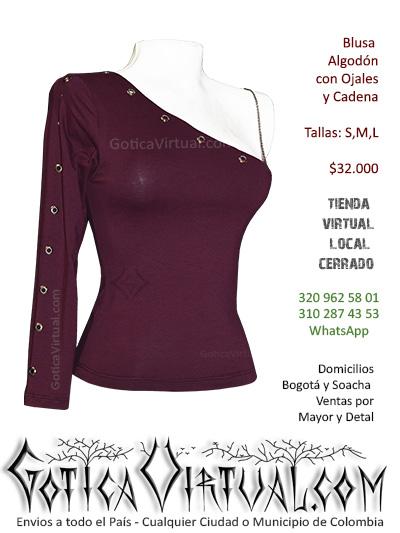blusa vinotinto gotica ropa metalera clan rokceros femenina soacha envios santander medellin barranquilla colombia pasto pereira