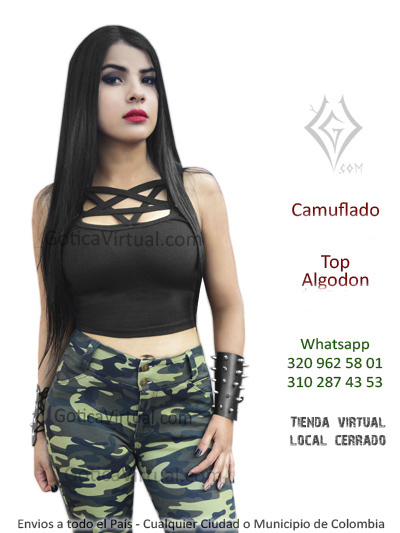 blusa top pentagrama rock metal fabrica mayorista bodega colombia al por mayor ventas online envios distribuidor autorizado gotica virtual