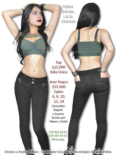 jean negro tienda virtual venta online envios bogota colombia