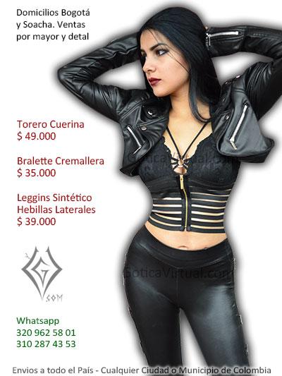 torero cuerina chica tipo chamarra negro venta online ropa accesorios bralettes bogota yiopal sincelejo leticia villavicencio cali colombia