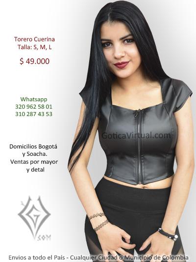 torero cuerina cremallera ropa venta online domicilios bogota cali cucuta chia manizales colombia