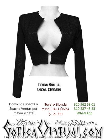 torero drill blonda bogota ropa chaqueta corta femenina dama mujer girl dark medellin cali colombia