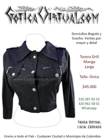torero drill negro chica femenino venta online domiciliso venta tunja chia manizales quindio calarca vilavicencio huila pasto mosquera colombia