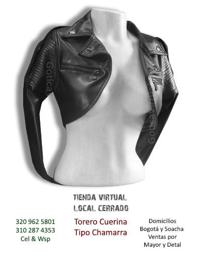 torero cuerina tipo chamarra tienda online rock metal bogota cali colombia chia manizales quindio colombia