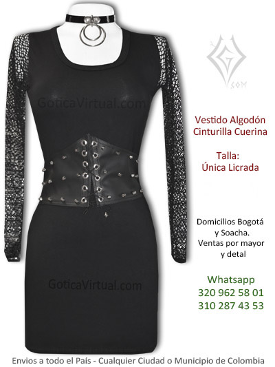 vestido algodon cinturilla taches malla tienda online bogota manizales santander bucaramanga huila colombia