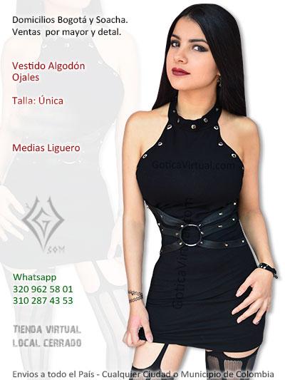 vestido algodon ojales negro economico venta onlie rock metal cucuta cesar pasto mosquera chia sinclejeo