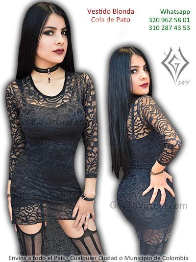 vestido blonda cola de pato negro sexy economico chicas rock metal boutique tienda online bogota usme soacha la calera cesr tunja quindio colombia