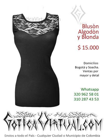 bluson algodon y blonda largo sexy bonito licrado economico venta online rock metal bogota caldas cesar valle armenia colombia