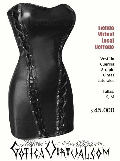 vestido cuerina straple bogota sexy prendas pvc brillante latex imitacion cuero lame brillante cintas cordones a los lados medellin cali