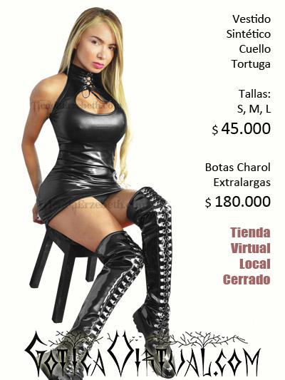 vestido dress sintetico brillante negro sexy bogota pvc lame licrado ajustado pecho sex shop senos busto abierto corto medellin cali manizales pereira yopal