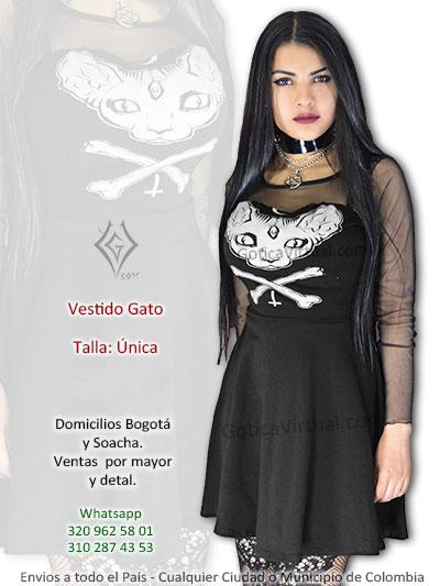 vestido estampado gato negro bonito sexy corto licrado venta bogota domicilios soacha americas fontibon engativa la calera suba colombia